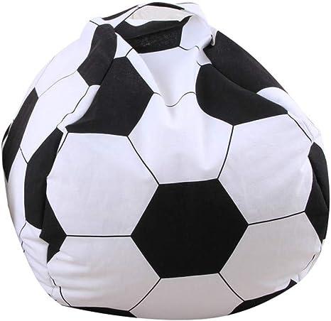 ShanZWH - Puf de 66 cm con diseño de balón de fútbol, baloncesto ...