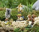 Fairy Garden Mini - Elves with Woodland Animals - Set of 3