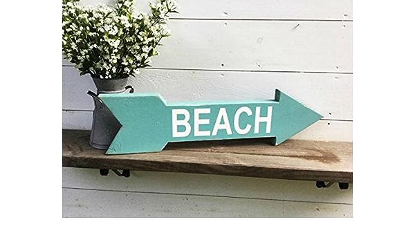 Amazon Com Beach Arrow Beach Sign Arrow Sign Wood Arrow Handmade