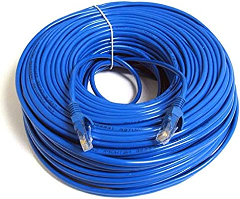 150 FT CAT6 23 AWG RJ45 Ethernet Network LAN Patch Cable Blue Cord UTP+Coupler