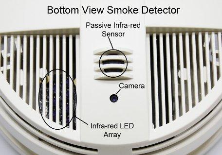 Xtreme Life 720P Night Vision Smoke Detector (Bottom View) - SC7200HD