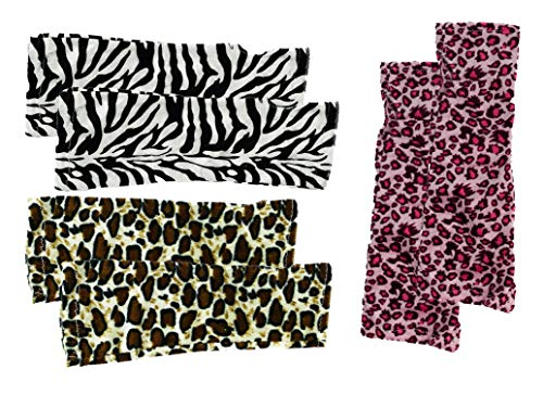 Set of 3 Fingerless Animal Print Glovettes! Perfect for Halloween Costumes! (3 Gloves)