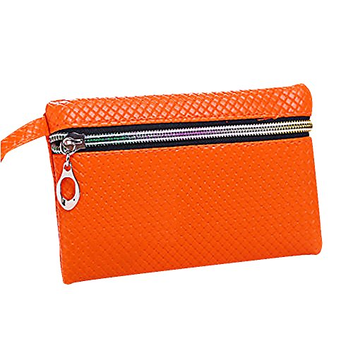 mk. park - Women Card Holder Wallets Coin Key Purse Clutch Zipper Leather Small Change Bag - Coupons Outlet Factory Card