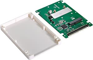 NFHK mSATA Mini PCI-E SATA SSD to 2.5 inch IDE 44pin Notebook Laptop Hard Disk case Enclosure White