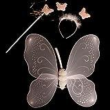 Dazzling Toys Nylon White Angel Wings, Halo Headband and Magic Wand (D081)