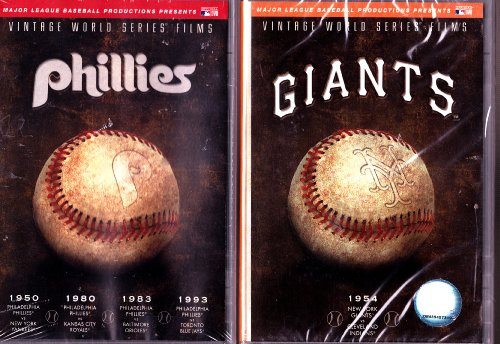 MLB Vintage World Series Films - New York Giants 1954 , Vintage World Series Films - Philadelphia Phillies 1950, 1980, 1983 & 1993 : National League 2 Pack Collection