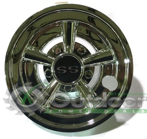 GOLF CART SS HUB CAPS FITS YAMAHA CLUB CAR EZ-GO PAR CAR HUBCAPS 8