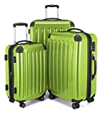 "HAUPTSTADTKOFFER Luggages Sets Glossy Suitcase Sets Hardside Spinner Trolley Expandable (20"", 24"" & 28"") TSA Applegreen"