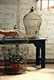 Set of 2 Decorative Antique Nesting Wire Bird Cages, Large: 22 x 13 in