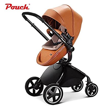 Pouch 2016 Fashion Baby Stroller, cuero PU, high-view de ...