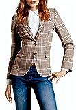 My Wonderful World Blazer Coat Jacket Mww Women Long Sleeves OL Business Plaid Formal Blazer US 6