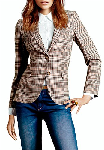 My Wonderful World Blazer Coat Jacket Mww Women Long Sleeves OL Business Plaid Formal Blazer US 6 by My Wonderful World Blazer Coat Jacket (Image #5)