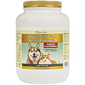 NaturVet Brewer's Dried Yeast Formula Powder for Dogs and Cats, 25-Pound