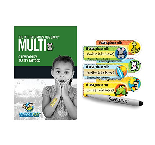 SafetyTat Child ID Tattoos (Multi-Design 6pk)]()