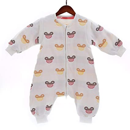 Gleecare Saco de Dormir del bebé, algodón con Pata Saco de Dormir de algodón bebé
