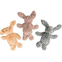 """SPOT Ethical Pets 13"""" Assorted Cuddle Bunnies Plush Dog Toy"""