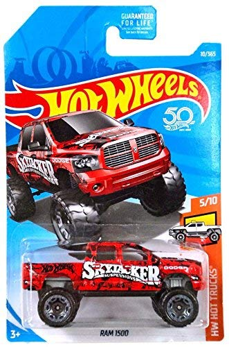 Hot Wheels 2018 50th Anniversary HW Hot Trucks Dodge Ram 1500 10/365, - Wheels Hot Dodge Ram
