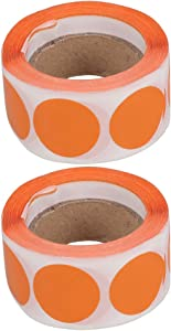 TOYANDONA 2 Rolls Scratch Off Stickers Round Labels Sealing Sticker Envelope Seals Gift Tag Decals for Biscuits Food Candy Packing Decals Decoration (Orange)