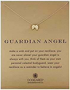 "Dogeared ""Reminders"" Guardian Angel Wing Gold Charm Necklace, 18"""