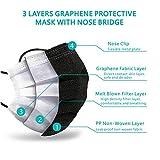 SuperHC 50 Pcs Graphene Protective Masks, Black