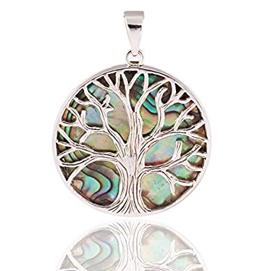 DTPSilver - 925 Sterling Silver and Abalone Paua Shell Pendant