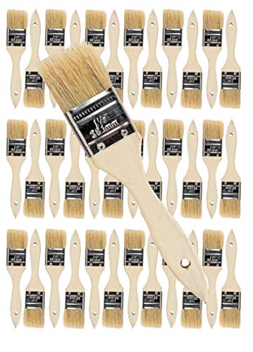 Chip Paint Brush - 36PK 1.5 inch Chip Paint Brushes for Paint, Stains,Varnishes,Glues, Gesso, Arts & Crafts. (1-1/2