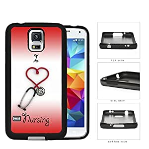 I Heart Nursing Rubber Silicone TPU Cell Phone Case Samsung Galaxy S5 SM-G900