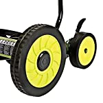 Sun Joe MJ502M Manual Reel Mower w/Grass Catcher | 20 inch 10 ✅ REEL MOWER: Powered with a push, this manual mower's 5 sharpened steel blades cut a crisp 20-inch path in a single pass - no gas, oil or electricity required ✅ ADJUSTABLE: 9 position manual height adjustment for cutting heights up to 2.44 in. deep ✅ RAZOREEL: 5 durable steel blades swiftly slice through grass for precise cutting