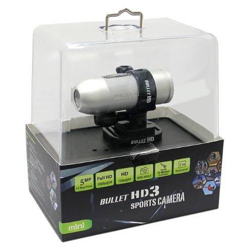 Maximal Power Mini Bullet HD3 Sports Camera/Camcorder (Silver) [並行輸入品] B01JWB8NJC