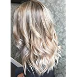 Ugeat 16inch Clip in Hair Extensions Balayage Ombre Ash Blonde 18 Fading to Color 22 Blonde and Color 60 120 Gram 7Pcs Set Clip in Real Human Hair Full Head Clip in Extensions