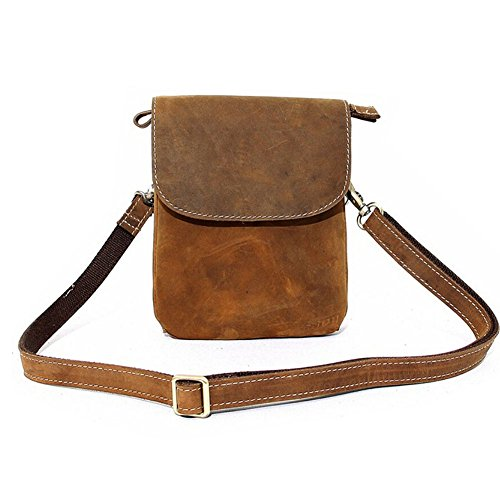 Paonies Women Men mini Leather Shoulder Crossbody Bag Pouch Purse for Cellphone by Paonies