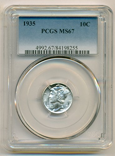 1935 Mercury Dime MS67 PCGS