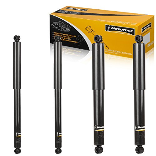 Maxorber 4pcs Front Rear Full Kit Shocks Struts Absorber Compatible with 1999 2000 2001 2002 2003 2004 Ford F-250 Super Duty 4WD Shocks Front Struts Rear Struts 344419 344077 34687 34686