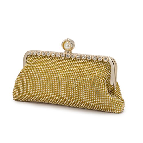 Black friday sales Online shopping Monday 2018 Evening bags shining Women gold diamond pearl beads Clutches handbags Ladies Wedding Purses Party Bags