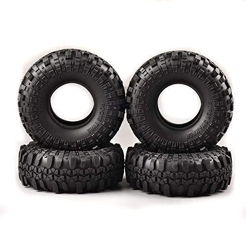 FidgetGear 4X Super Swamper Rocks Rubber 110mm Tires for 1/10 R/C Model Rock Crawler Car from FidgetGear