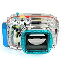 EACHSHOT 40m/130ft Waterproof Underwater Housing Diving Camera Case Bag for Nikon V1 10mm Lens