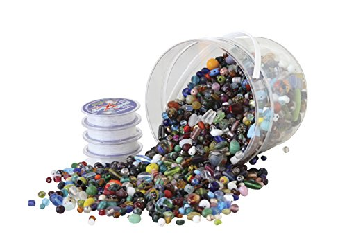 School Specialty 408860 Glass Bead Kit, Assorted - Glasses Specialty