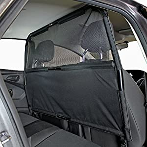"""Bushwhacker® - Paws n Claws Deluxe Dog Barrier 50"""" Wide - Ideal for Smaller Cars, Trucks, and SUV's - Patent Pending - Pet Restraint Car Backseat Divider Vehicle Gate Cargo Area"""