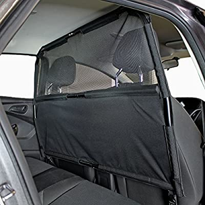 "Bushwhacker® - Paws n Claws Deluxe Dog Barrier 50"" Wide - Ideal for Smaller Cars, Trucks, and SUV's - Patent Pending - Pet Restraint Car Backseat Divider Vehicle Gate Cargo Area"