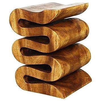 Haussmann Wave 14 x 14 x 20 in H Walnut Oil