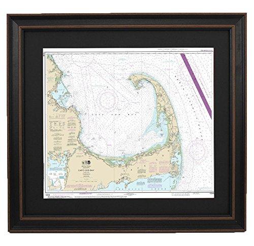 PatriotGearCompany | Framed Nautical Chart 13246 : Cape Cod Bay - Standard ()