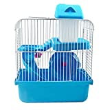 Elisona-Luxury Castle Hamster Cage Small Animal Cages with Bedroom Hamsters Wheel Food Basin