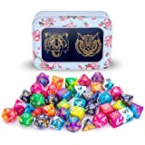 DND Dice Set, Dungeons and Dragons Dice Polyhedral Game Dice Role Playing Dice for Dungeon and Dragons DND RPG MTG Table Games D4 D8 D10 D12 D20 … (6Colors A)