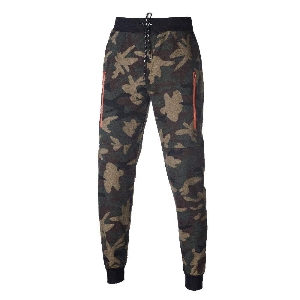 Fanteecy Mens Camouflage Hooded Sweatshirt Coat Jacket Pants Sports Suit Autumn Winter Sweatsuit Tracksuit