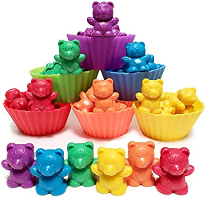 Jumbo Counting Bears With Stacking Cups Montessori Rainbow Matching Game Educational Toys And Color Sorting Toys For Toddlers With 54 Math Manipulatives Toy Storage And Learning Activities Ebook Amazon Ae