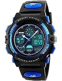 Kids Sports Watch Waterproof Boys Multi-Function Analog Digital Wristwatch LED Alarm Stopwatch