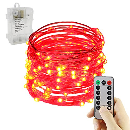 100 Count Red Led Christmas Lights in US - 9