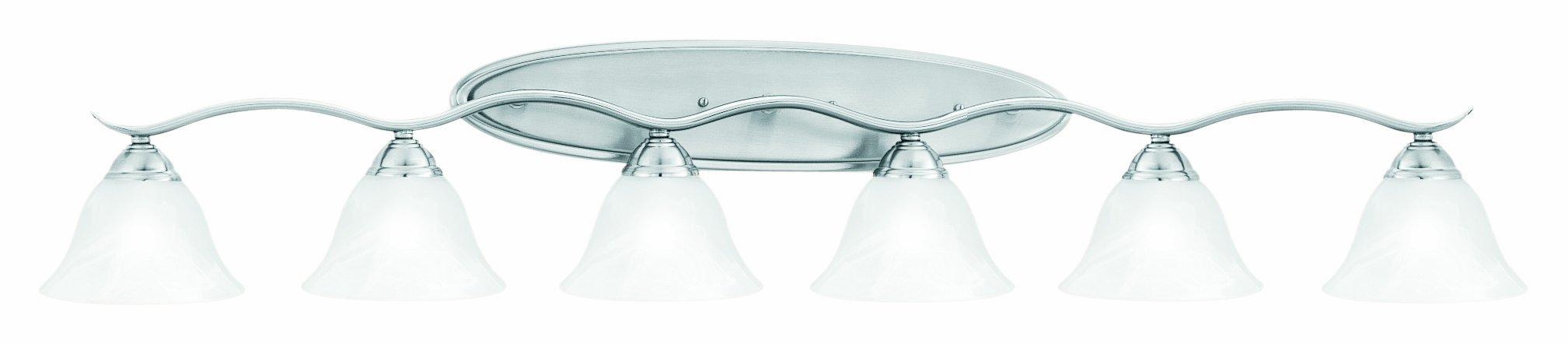 Thomas Lighting SL748678 Prestige Bath Light, Brushed Nickel