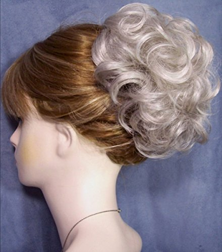 HAYLEY Clip On Hairpiece by Mona Lisa - 56 Gray with 10% Brown