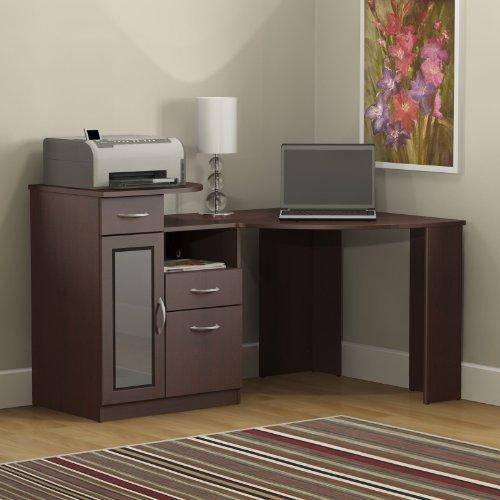 042976666156 - Bush Furniture Vantage Corner Desk, Harvest Cherry carousel main 2
